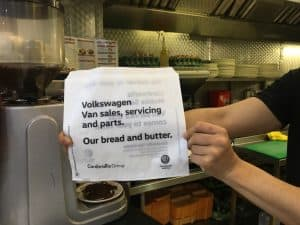 VW Vans Butty Bag Advertising