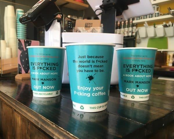 Harper Collins Mark Manson Coffee Cups