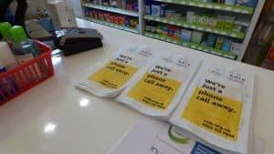 RNIB Pharmacy Bag Advertising