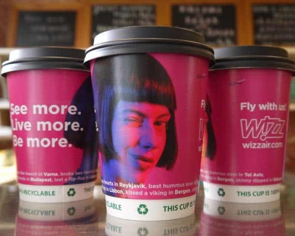 Wizz Air Coffee Cups