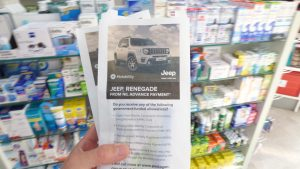 Jeep Motability Pharmacy Bag Advertising