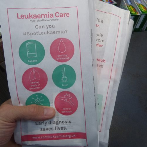 Leukaemia Care Pharmacy Bag Advertising