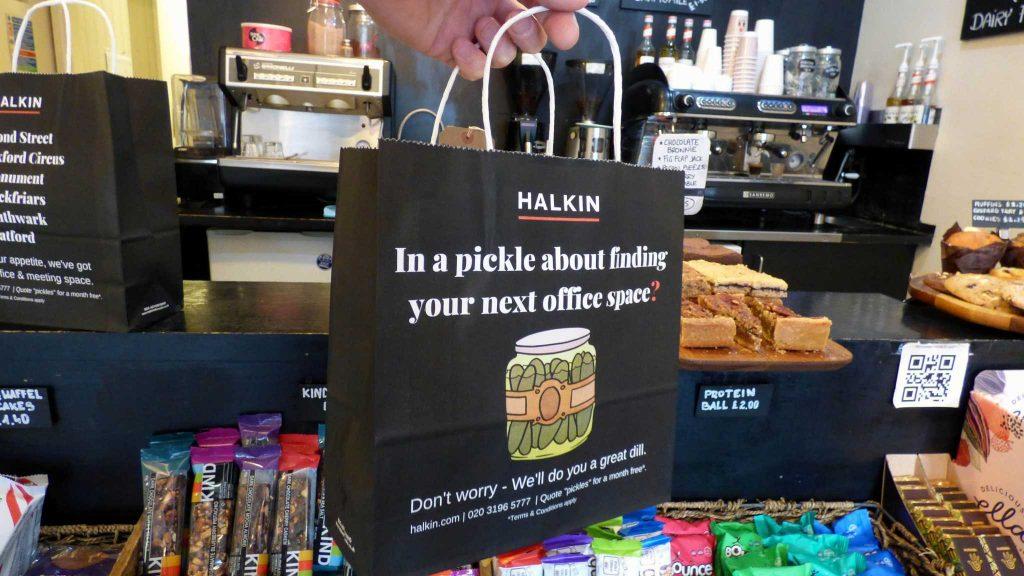 Halkin Deli Bag Advertising