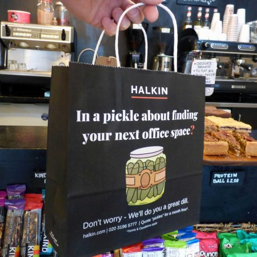 Halkin Deli Bag Advertising