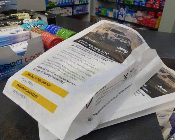 Jeep Pharmacy Bag Advertising