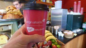 Virgin Atlantic Coffee Cup Advertising