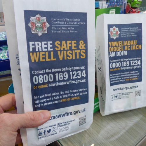 Mid & West Wales Fire & Rescue Pharmacy Bags