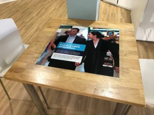 Aldi University Tablewrap Advertising