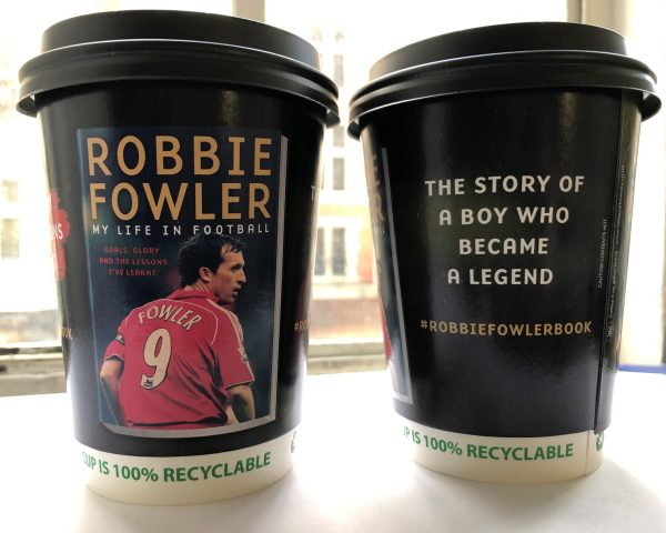 Bonnier Robbie Fowler Coffee Cup Advertising