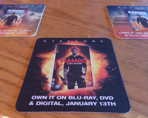 Lionsgate Rambo Beer Mat Advertising
