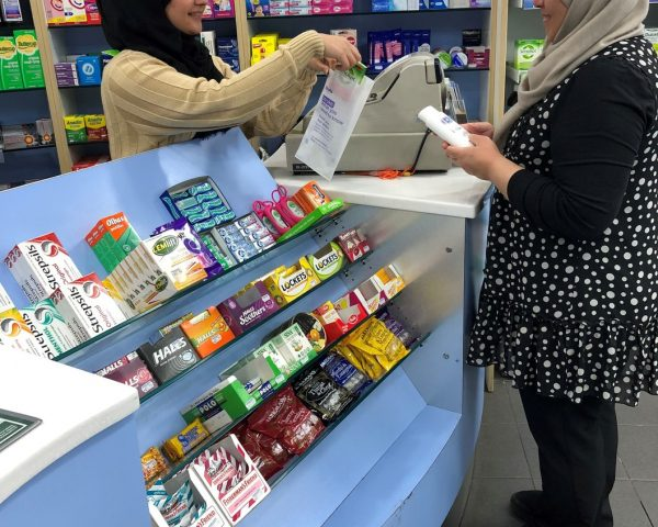 Stroke Association Pharmacy Bag Advertising