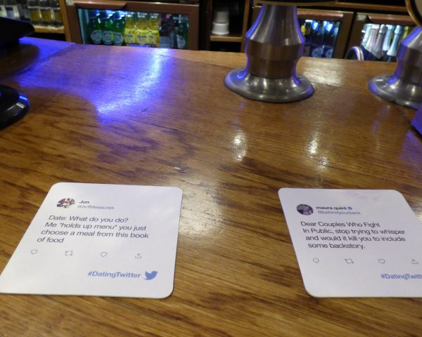 Twitter Beer Mat Advertising