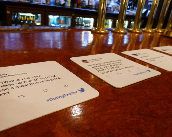 Twitter Beer Mat Advertising