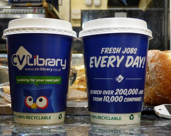 CV Library Coffee Cups