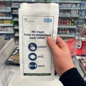 NHS Reinforces Coronavirus Message on Pharmacy Bags